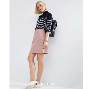 H&M Pink Corduroy Skirt